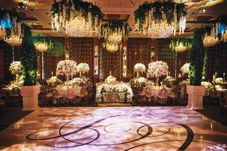 Dan Vitale & Caley Chelios Reception inside weddings spring 2020 issue