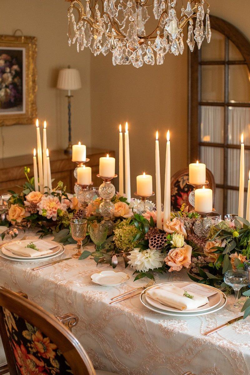 Vintage-Inspired At-Home Wedding