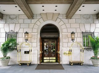 wedding-reception-location-the-hay-adams-in-washington-dc-bellhop-carts-plants-sconces