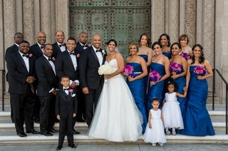 african-american-wedding-party-in-formal-attire