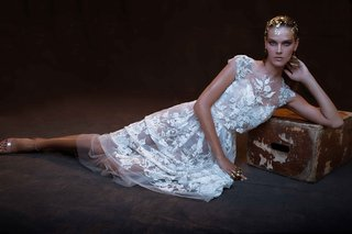 limor-rosen-2017-grace-flower-applique-short-wedding-dress-crop-top-treasure-collection