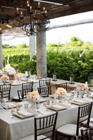 wrought-iron-chandelier-and-natural-tablescape