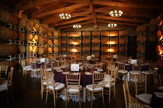 simple-wedding-decorations-in-winery-room