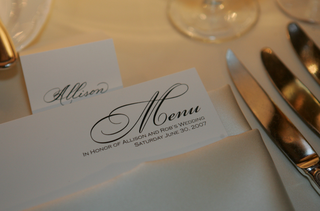 wedding-reception-menu-in-white-napkin
