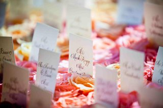 rectangular-seating-cards-in-bed-of-roses