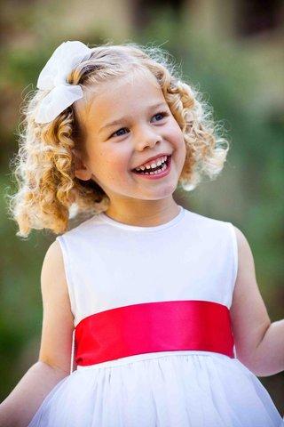 white-flower-girl-dress-with-pink-orange-sash