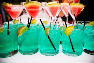 martini-glasses-with-watermelon-and-blue-drinks