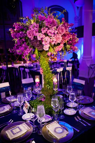 blue-lighting-on-garden-inspired-arrangement