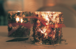 glass-votive-candleholders-decorated-with-moss-and-orange-ribbon