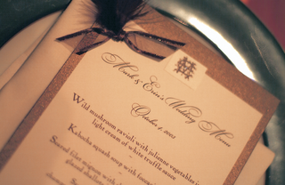 wedding-menu-calligraphy-on-white-and-brown-paper