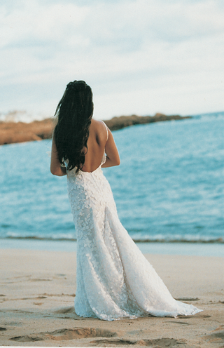 rear-view-of-wedding-dress-with-lace-skirt-and-low-back