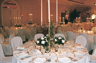 candelabrum-and-small-floral-arrangements