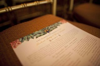 wedding-program-with-peacock-and-cherry-blossoms-by-ceci-new-york