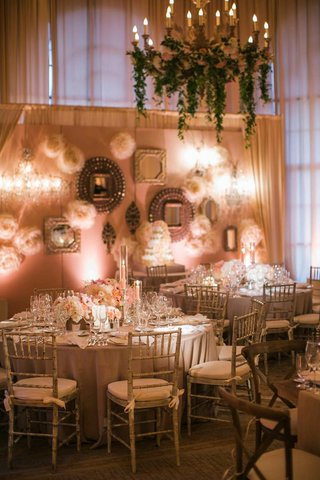 indoor-wedding-with-garden-theme-and-gallery-wall