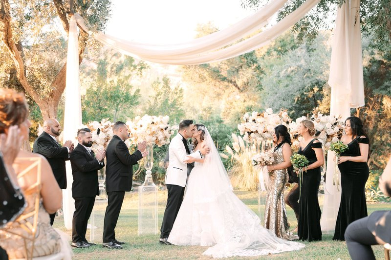 Outdoor Ceremony with Pampas Grass