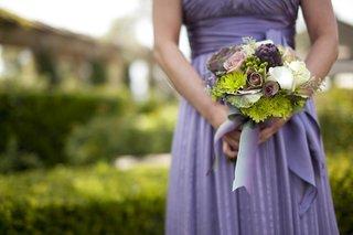 green-mum-purple-artichoke-wedding-bouquet