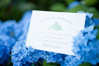 wedding-stationery-with-reception-information-on-blue-hydrangeas