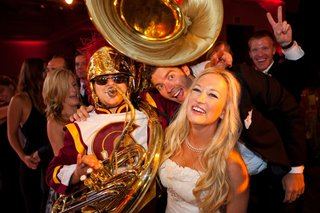 bride-with-university-of-southern-california-tuba