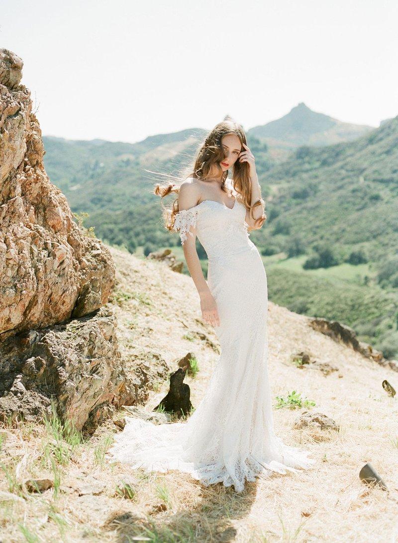 """Full-Length """"Bordeaux"""" Wedding Dress"""