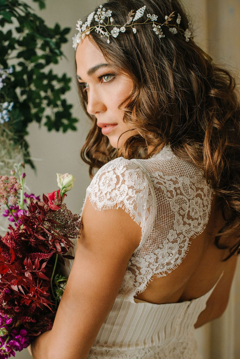"""Antoinette"" Lace Tee by Claire Pettibone"