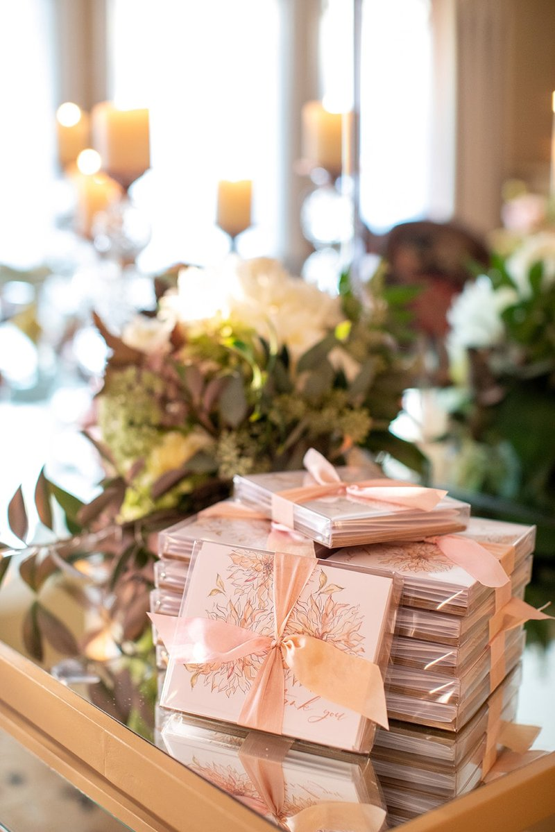 Thank-You Note Wedding Favors