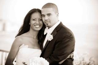black-and-white-photo-of-african-american-bride-and-groom