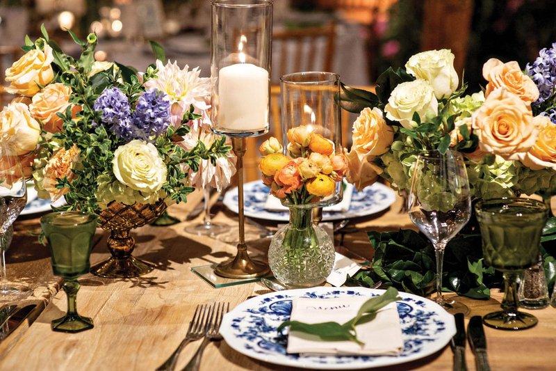 French Garden-Themed Wedding Reception