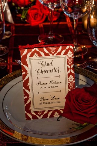 free-standing-wedding-menu-card-with-red-rope