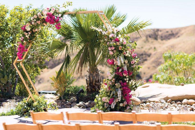 Unique Desert Ceremony Structure