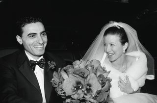 black-and-white-photo-of-bride-and-groom