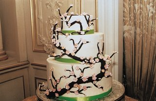 three-layer-round-cake-with-cherry-blossoms