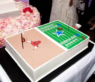 dallas-cowboys-and-chicago-bulls-cake-at-wedding