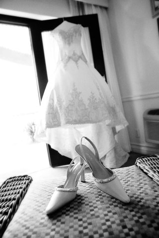 black-and-white-photo-of-slingback-wedding-heels