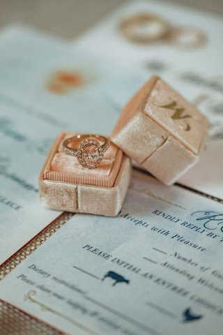 wedding-ring-box-mrs-box-with-gold-initial-halo-diamond-engagement-ring-rose-gold
