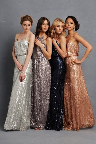 silver-navy-grey-and-bronze-bridesmaid-dresses-with-sequins