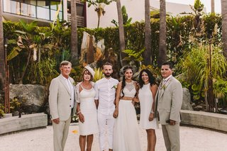 irish-groom-and-parents-native-american-and-latina-bride-with-parents