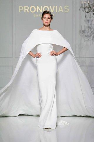 pronovias-2016-crepe-wedding-dress-with-cape