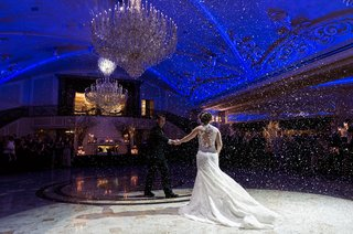 san-francisco-giants-joe-paniks-wedding-joe-and-brittany-panik-first-dance-fake-snow-first-dance
