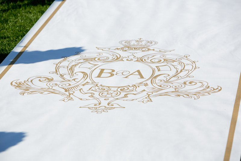 Custom Gold Aisle Runner