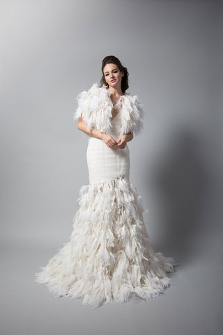 randi-rahm-fall-2018-wedding-dress-bridal-collection-trumpet-mermaid-gown-feather-skirt-and-bolero
