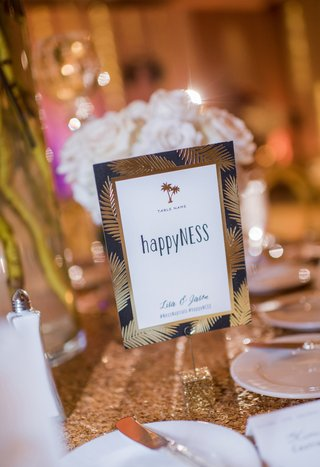 wedding-hashtag-ideas-clever-table-numbers-gold-palm-fronds