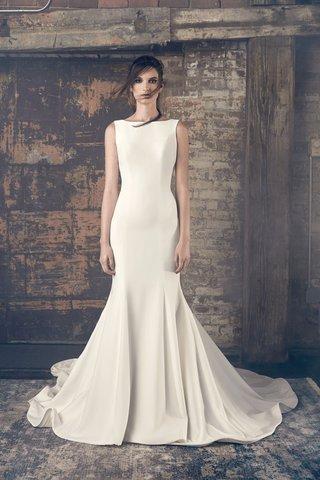 sareh-nouri-fall-2018-wedding-dress-elsa-high-boat-neck-bateau-wedding-dress-trumpet-fit-flare
