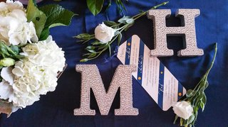 rhinestones-on-large-m-and-h-letters-at-reception