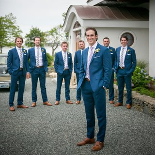 montreal-canadiens-brian-flynn-in-blank-label-navy-suit-with-groomsmen