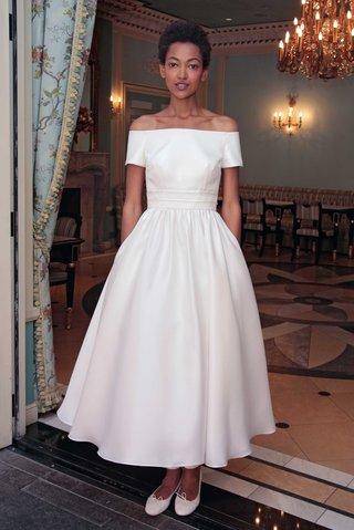 delphine-manivet-spring-summer-2017-harlon-off-the-shoulder-wedding-dress-midi-length-short-sleeves