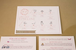 indian-wedding-timeline-itinerary-pink-grey-gold-details