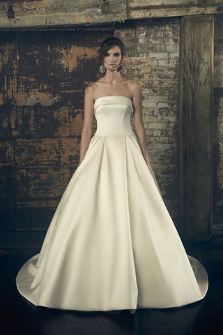 sareh-nouri-fall-2018-wedding-dress-elinor-strapless-ball-gown-a-line-drop-waist-fold-over-neckline