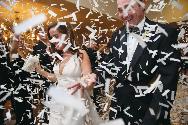 Confetti Toss for Newlywed Recessional