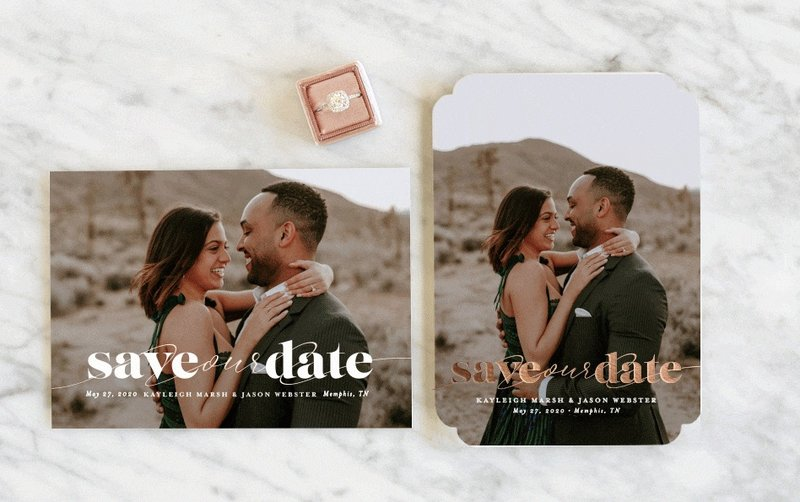 Custom Save the Date from Minted.com