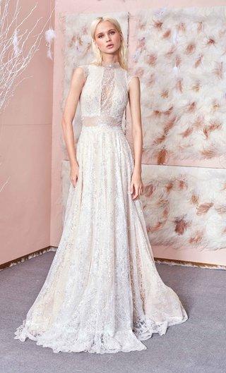gala-no-3-collection-gala-by-galia-lahav-high-neck-wedding-dress-cap-sleeves-sheer-waist-lace